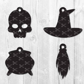 Halloween Earrings SVG Cut Files