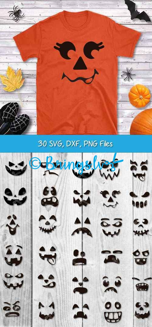 Pumpkin Face SVG Bundle