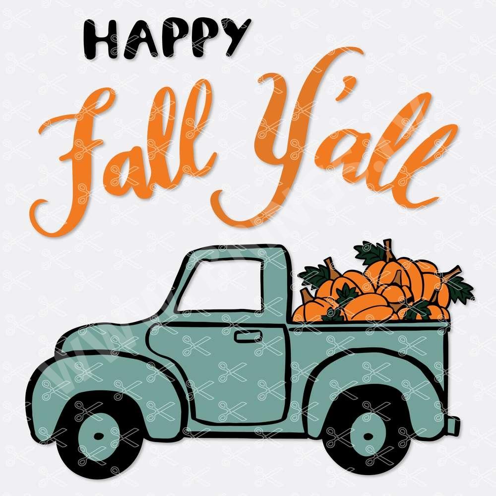 Pumpkin Truck SVG