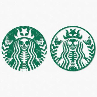 Starbucks Halloween svg Starbucks skeleton svg