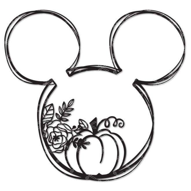 Mickey Mouse Pumpkin SVG