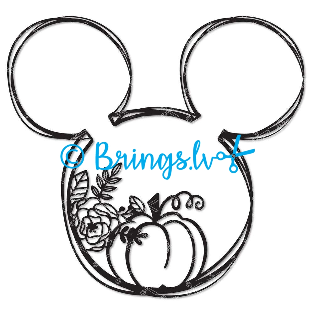 Mickey Mouse Pumpkin SVG