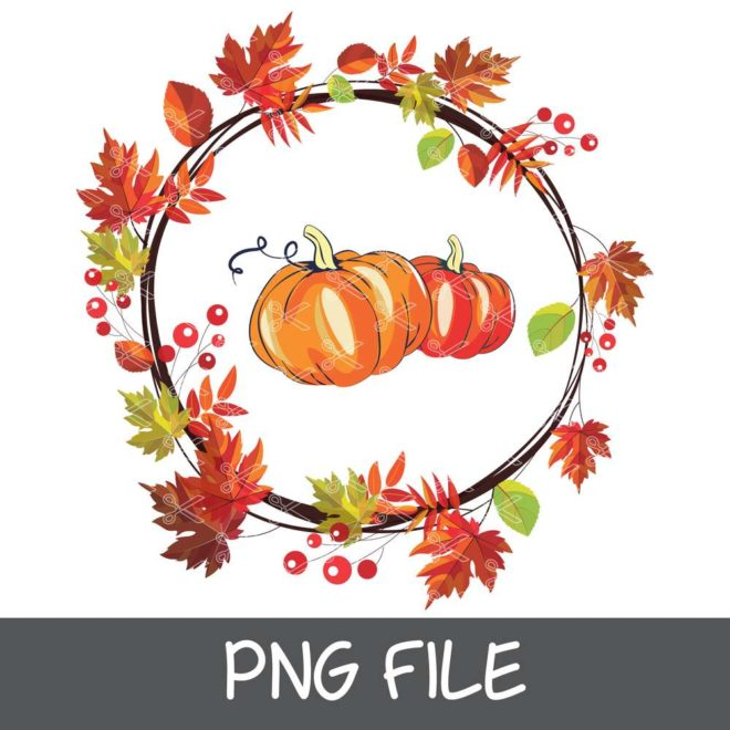 Colorful Pumpkin Graphic File for Sublimation Printing