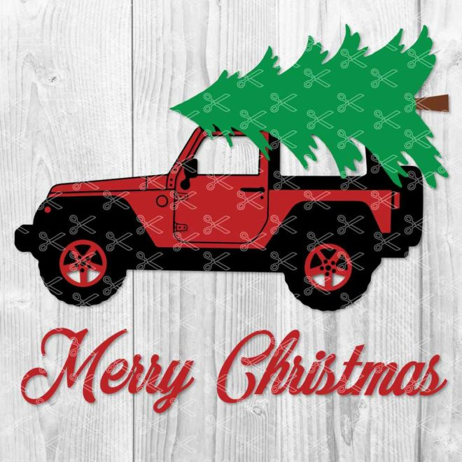 Christmas Jeep SVG