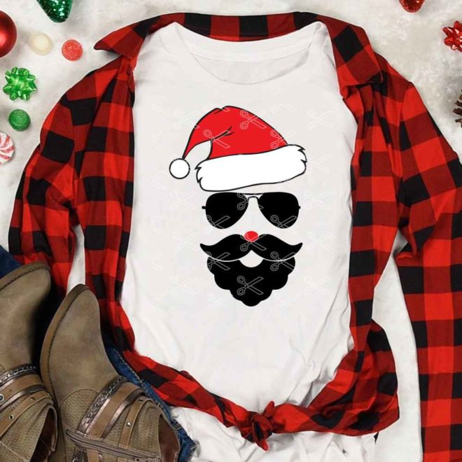 Santa with Sunglasses SVG