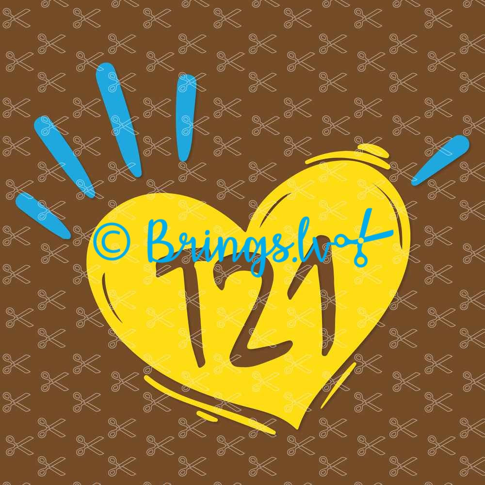 T21 down syndrome awareness Svg