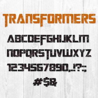Transformers Font SVG