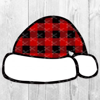 Santa plaid hat SVG