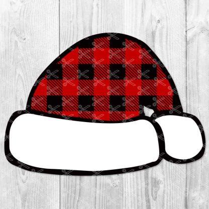 Santa plaid hat SVG