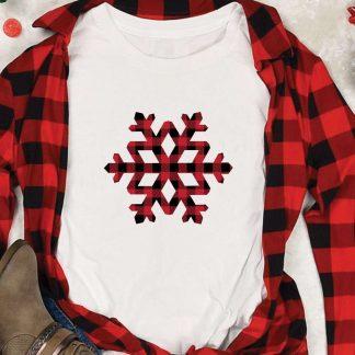 Buffalo Plaid Snowflake SVG