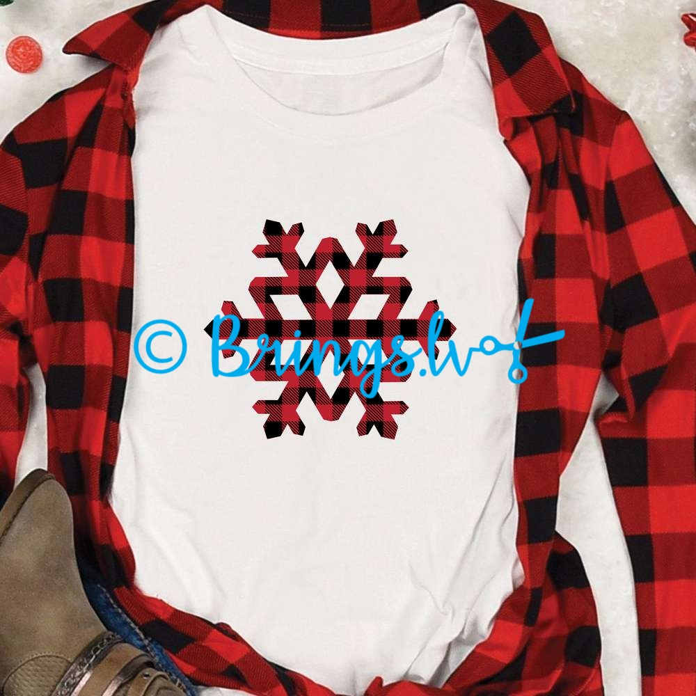 Buffalo Plaid Snowflake SVG