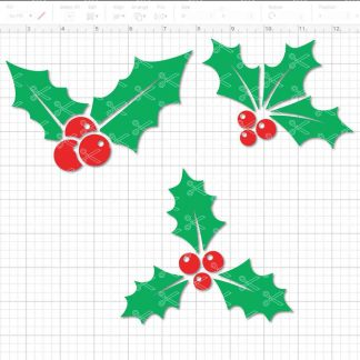 Christmas Holly SVG