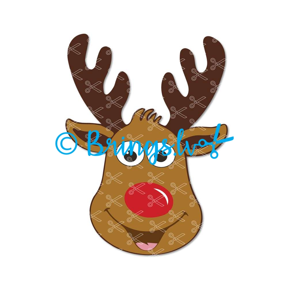 Christmas Reindeer Face SVG