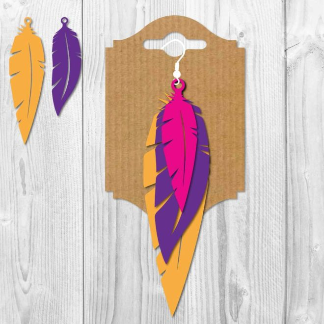 Earring Feather SVG