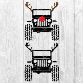 Jeep Wrangler Wild Deer SVG