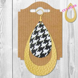 Leaf Faux Leather Earrings SVG