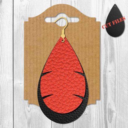 Leaf Teardrop Earrings SVG File