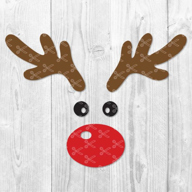 Reindeer Face SVG Cut File
