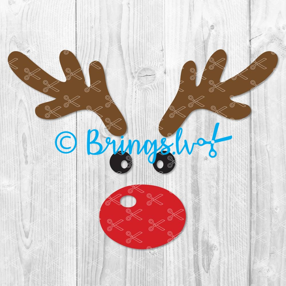 Reindeer Face SVG Cut File