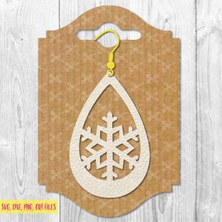 Snowflake Earring SVG File