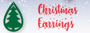 christmas earrings svg