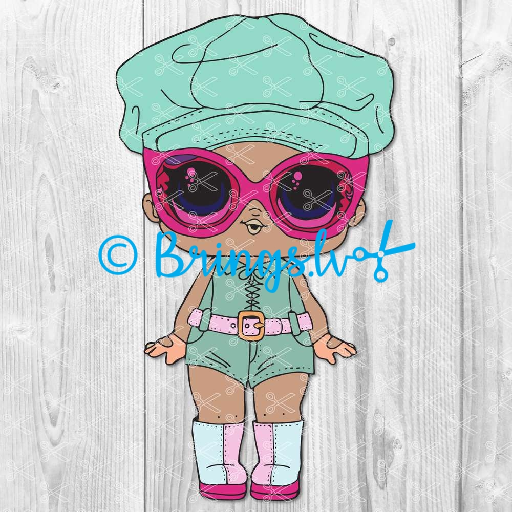 Agent Baby LOL Surprise Doll SVG