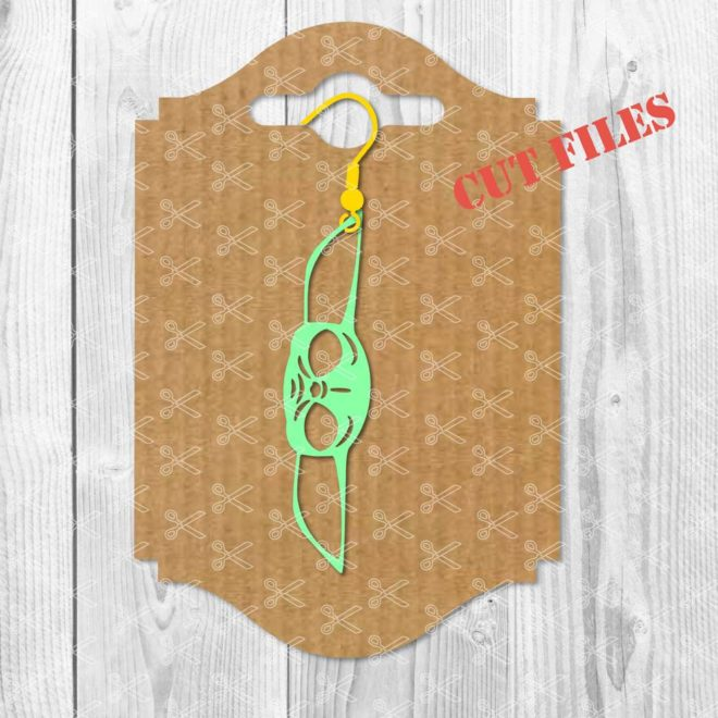 Baby Yoda Earring SVG Cut File