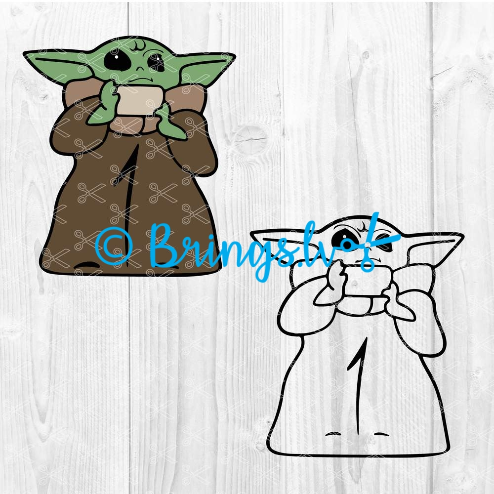 Baby Yoda Svg Png Dxf Cut Files The Child Clipart