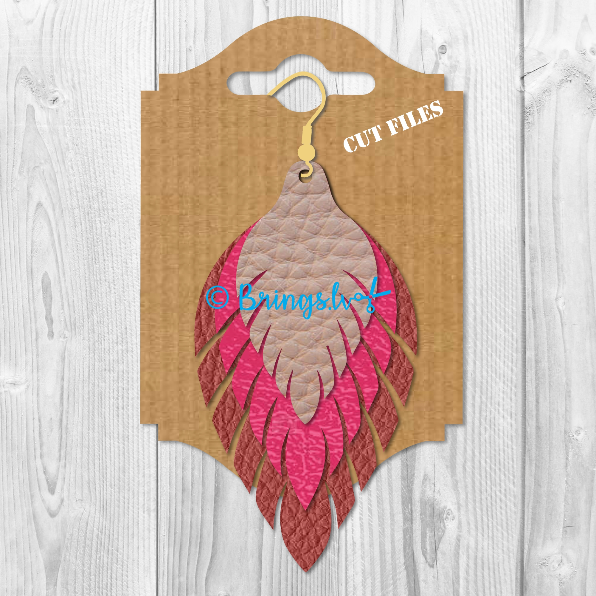 Feather Fringe Earring SVG