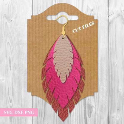 FEATHER AND TEARDROP EARRINGS SVG FILE