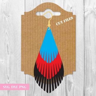 Fringe Tear Drop SVG File