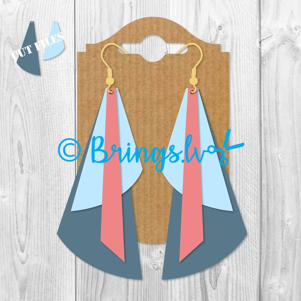 Geometric Earring Template SVG - Leather Earrings SVG DXF PNG - Geometric Earring Template