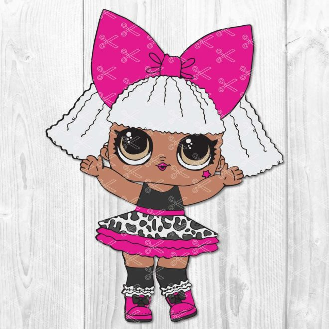 Glitter Diva LOL Doll SVG