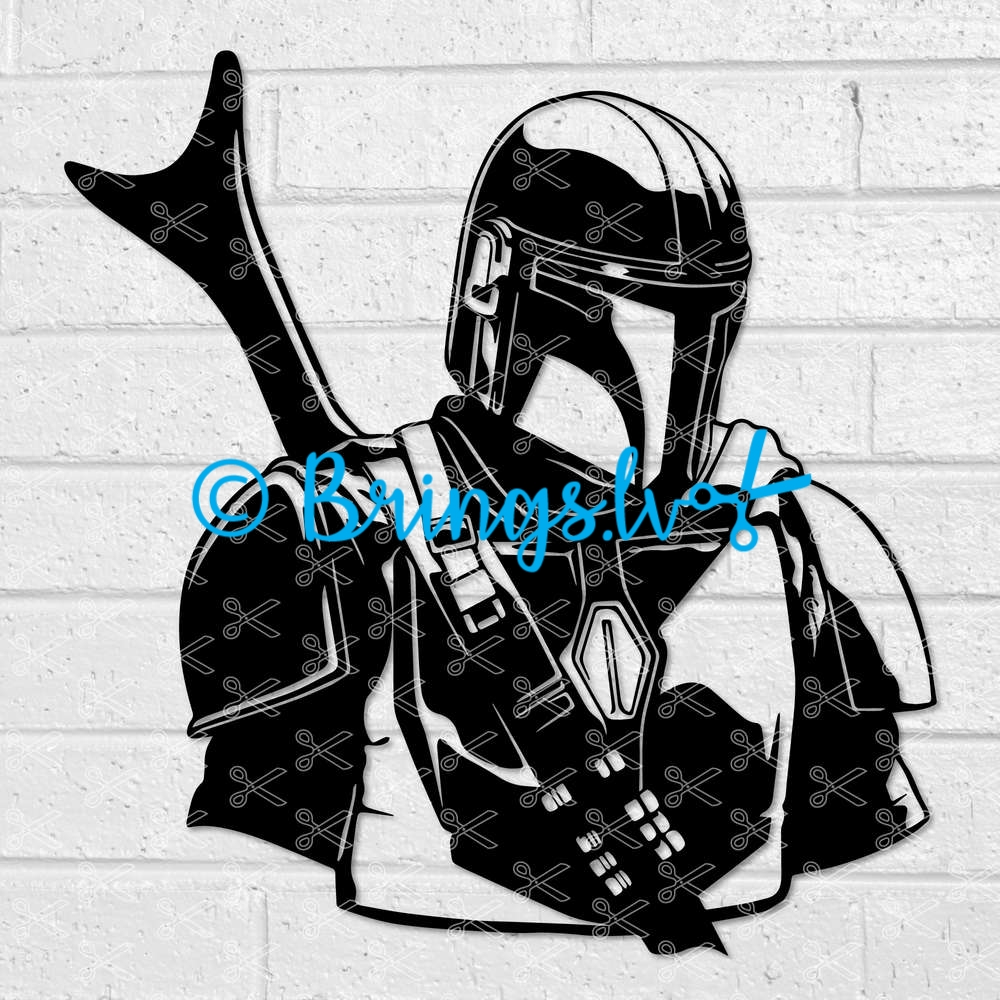 The Mandalorian Star Wars SVG