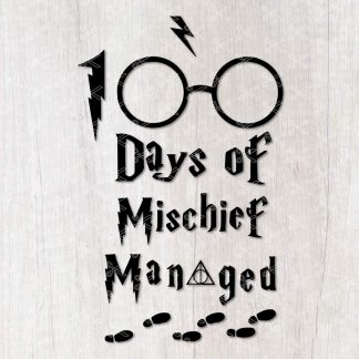 100 Days of Mischief Managed SVG