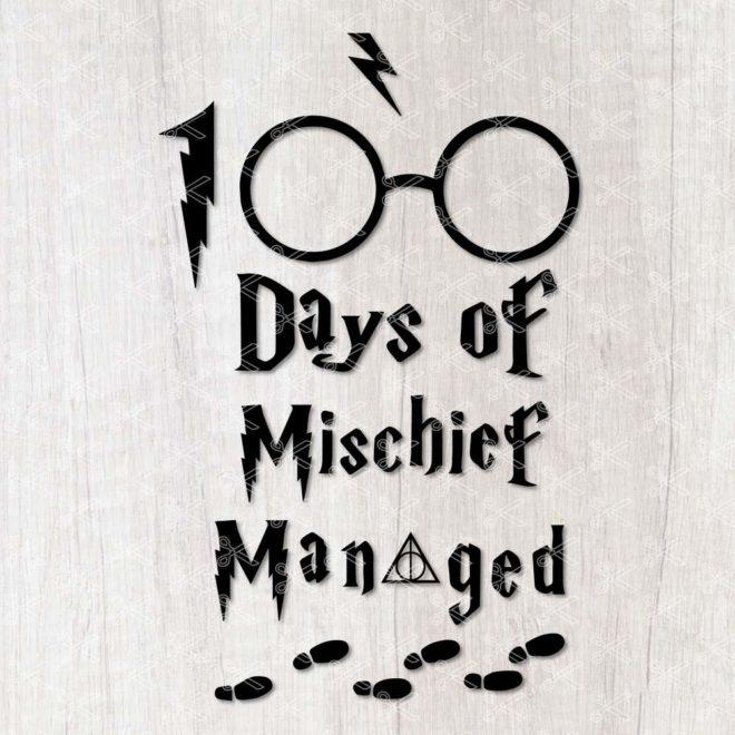 100 Days of Mischief Managed SVG