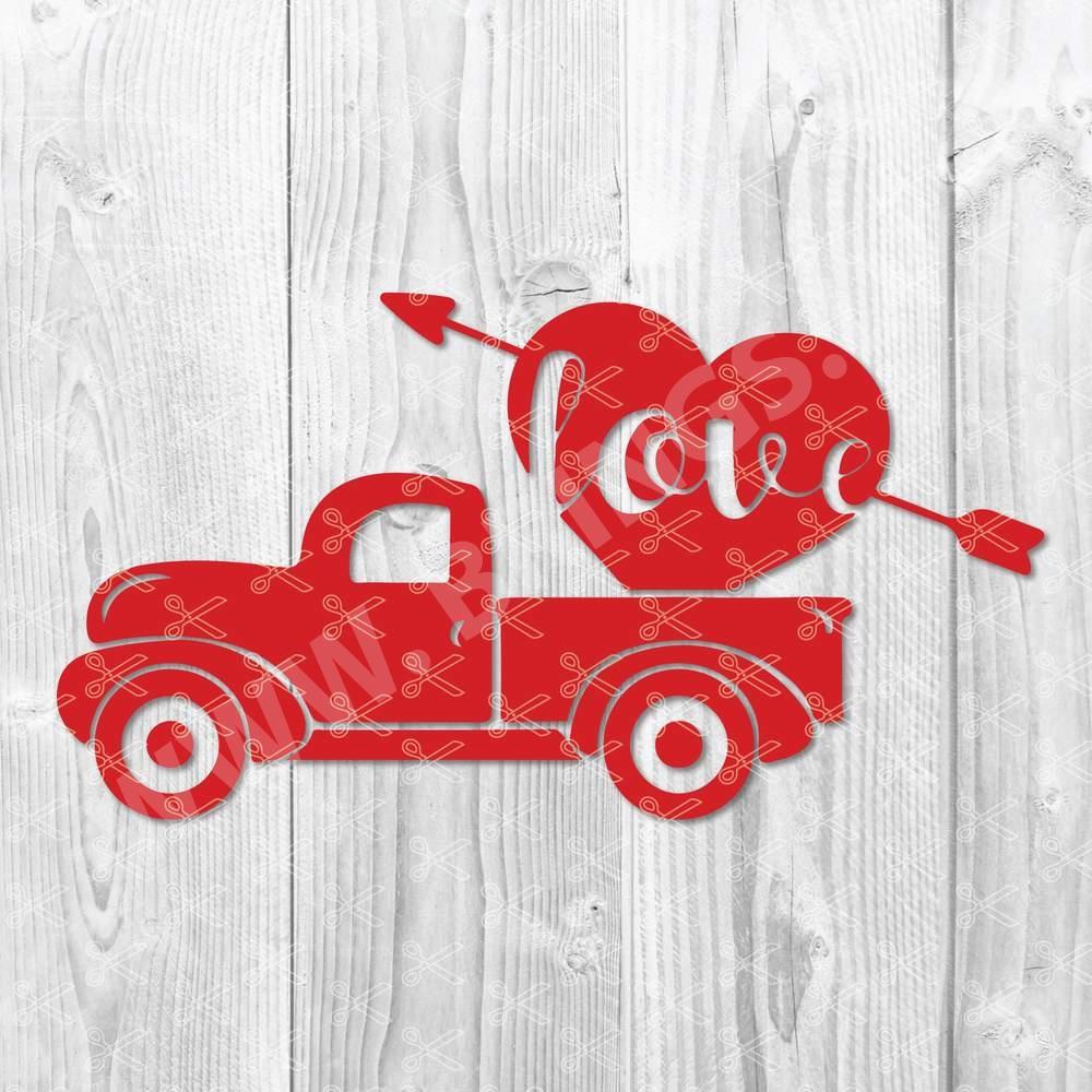 Boy Valentine Truck SVG