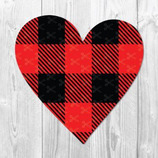 Buffalo Plaid Heart SVG
