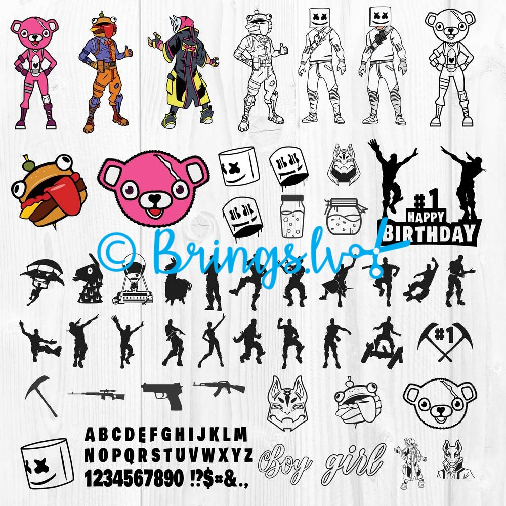 Mega Fortnite Svg Bundle Fortnite Birthday Svg Fortnite Svg Cut File Burbank big in 3 widths. fortnite svg dxf eps png bundle fortnite svg for cricut silhouette