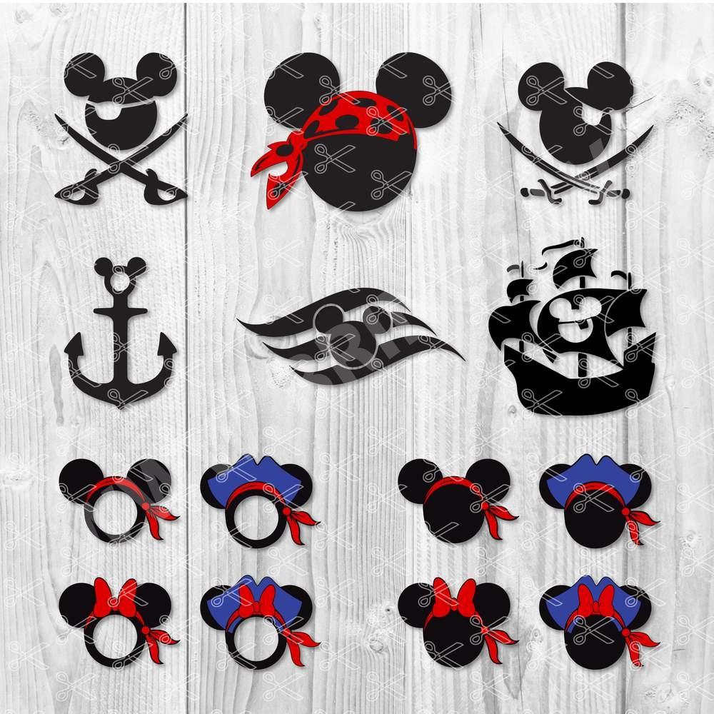 Mickey and Minnie Pirate SVG