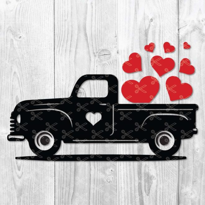 Valentine Truck Svg