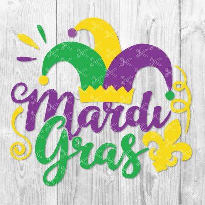 MARDI GRAS SVG CUTTING FILE