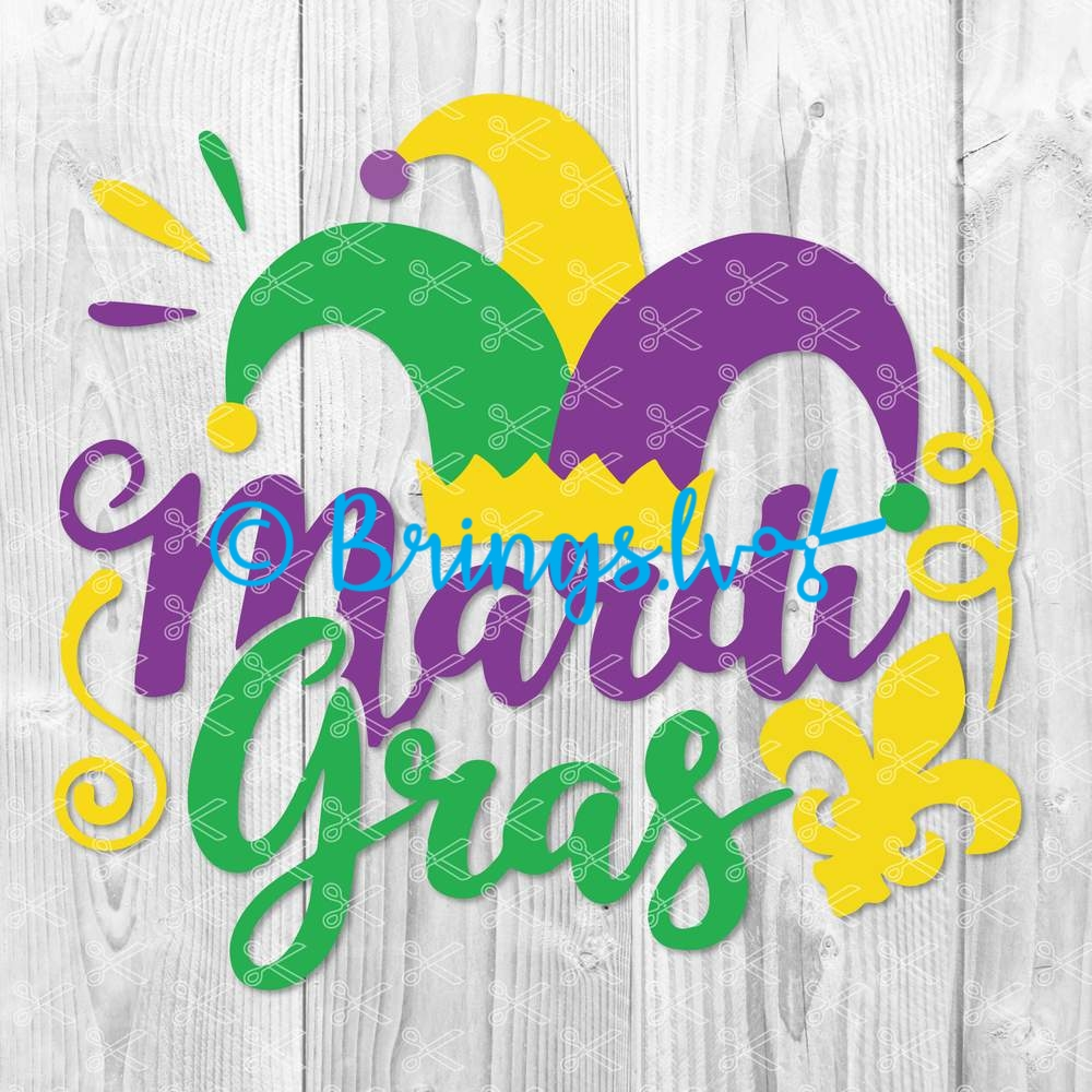 mardi gras svg cutting file