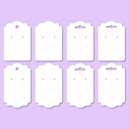 EARRING DISPLAY CARDS SVG