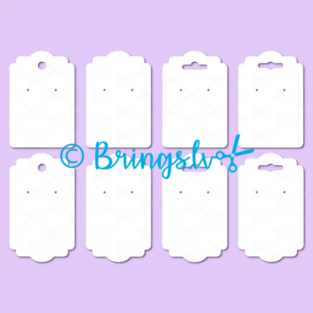 Earring display cards svg - Earrings Display Cards SVG, DXF, PNG, EPS, Cut Files