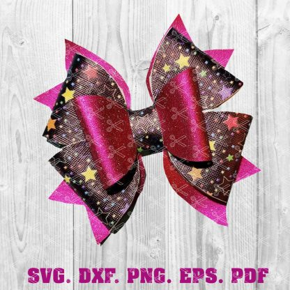 FAUX LEATHER HAIR BOW SVG