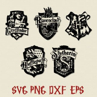 Hogwarts Crest SVG