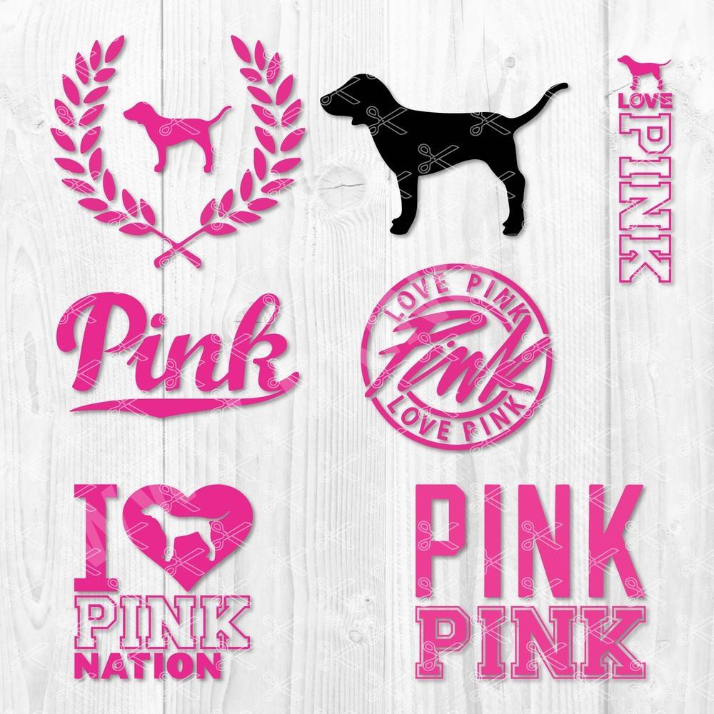 Love Pink Logos SVG
