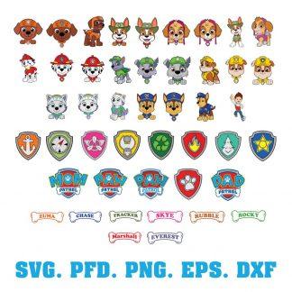 Paw Patrol SVG Bundle
