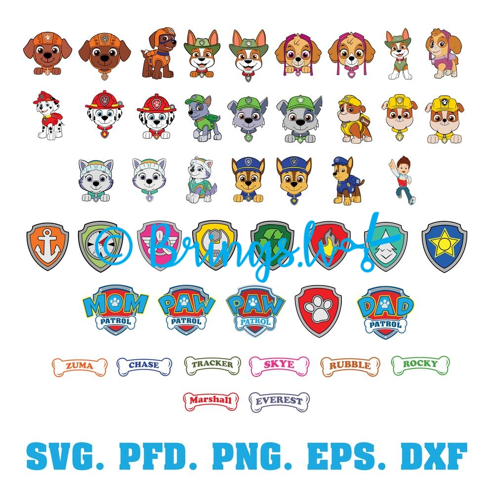 Paw Patrol SVG Bundle